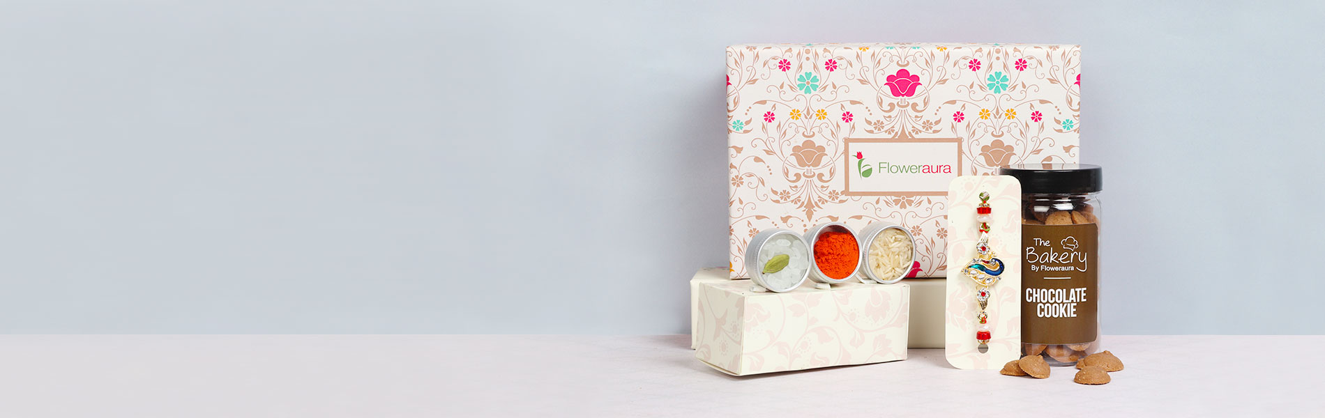 Send Rakhi with signature box and other gift hampers