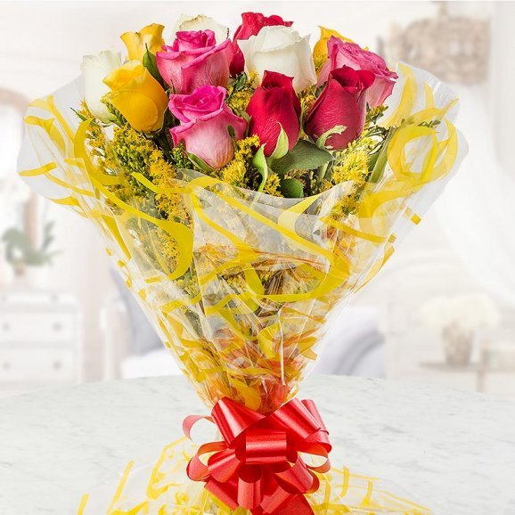 Mixed Flowers bunch for bhai dooj