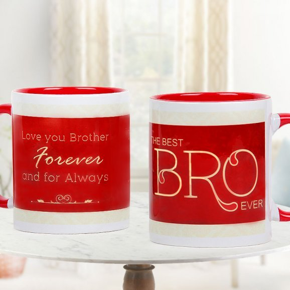 Best Bro Mug with Both Sided View