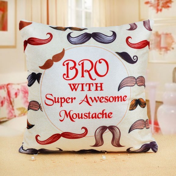 Awesome Bro Moustache Cushion