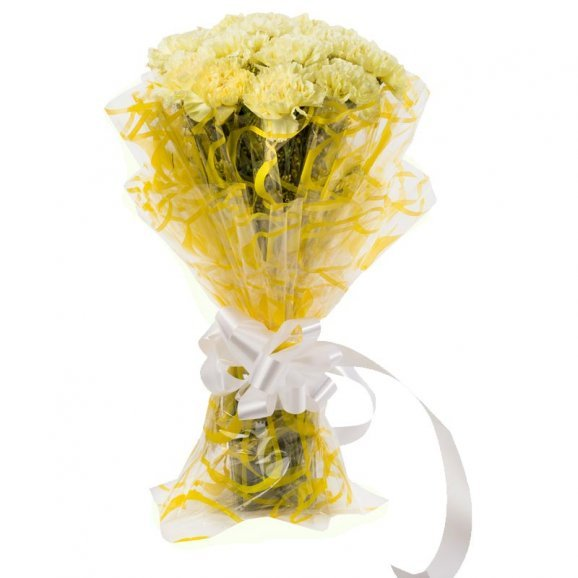 Image 2 of 10 Yellow Carnation bunch