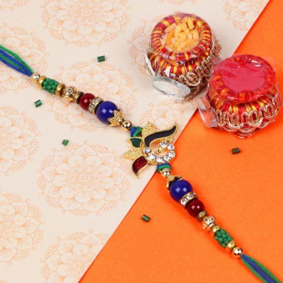 Graceful Peacock Rakhi For brothers online