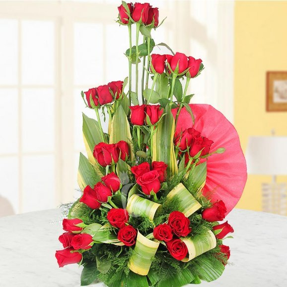 40 Red Roses Arrangement