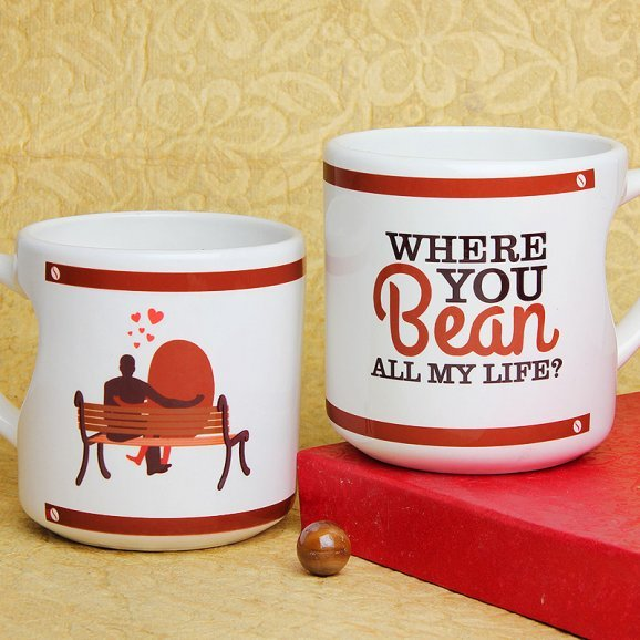 Where You Bean All of My Life Mug with Both Sided View