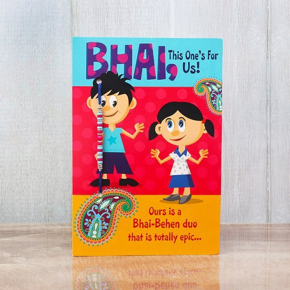 Greeting Card with Rakhi Attached