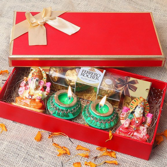 Laxmi Ganesh with Diya Set - Buy Now