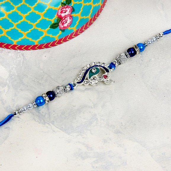 Blue Gemstone Rakhi