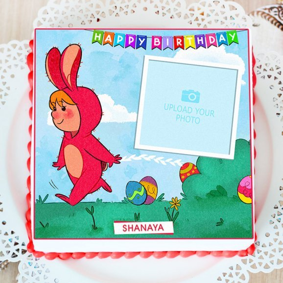 Photo Cake for Kids - Top View