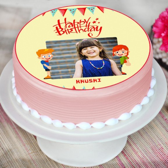 Round Personalised Cake for Kids