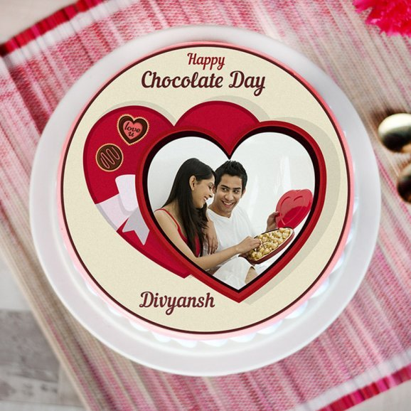Chocolate day special photo cake