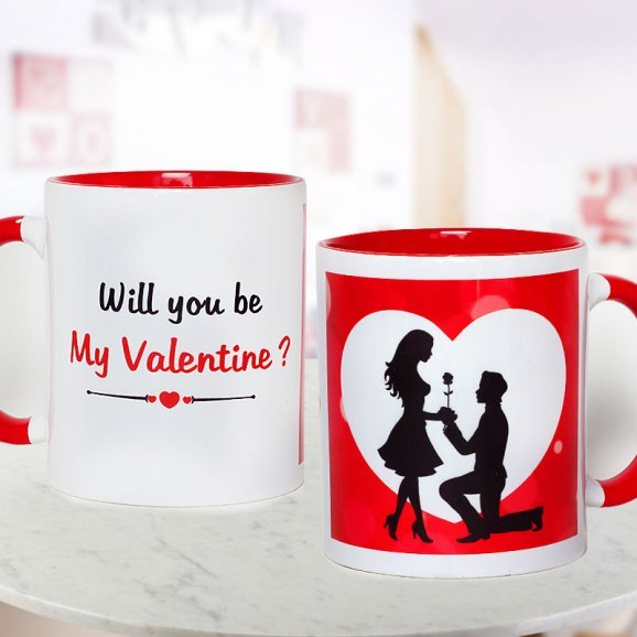 Couple Proposing Mug with Both Sided View