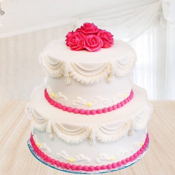 2 tier vanilla cake - First gift of Dreamy Creamy Love