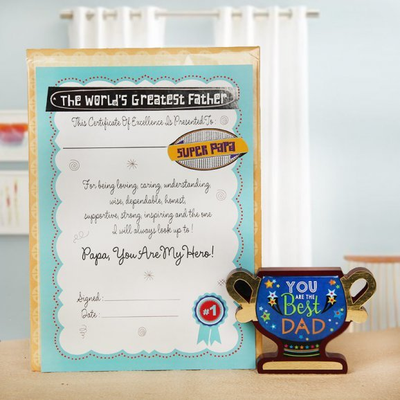 greatest father certificate - Your token of love for father