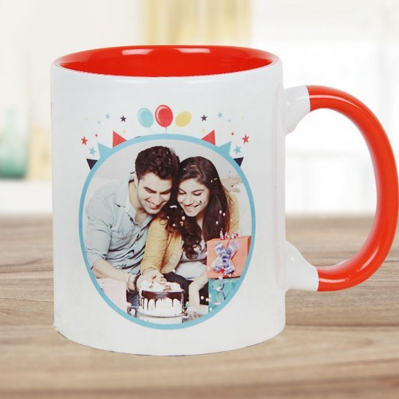 Birthday Celebration Mug with Front Sided View