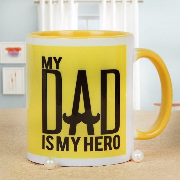 Hashtag Super Dad Mug with Front Side View