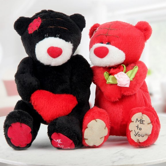 6 inches black and red couple bear for your Love