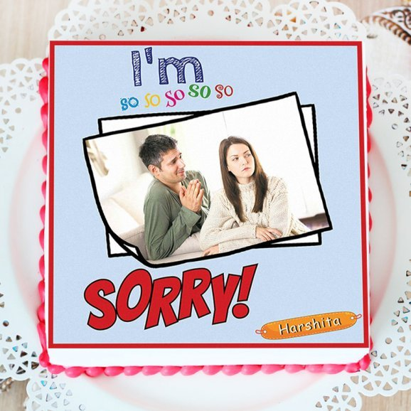 I Am Sorry Photo Cake