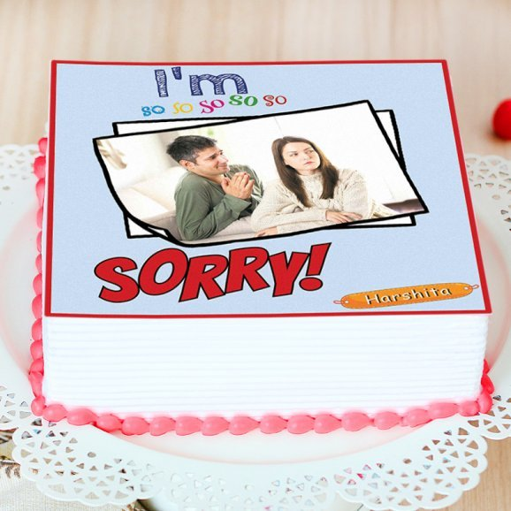 So Sorry Theme Cake