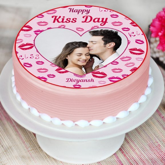 Photo Cake for Kiss Day