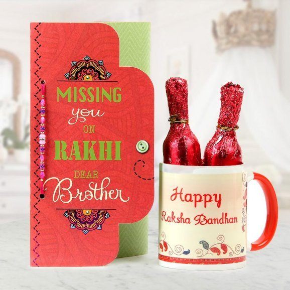 Missing You Bhai Rakhi Combo