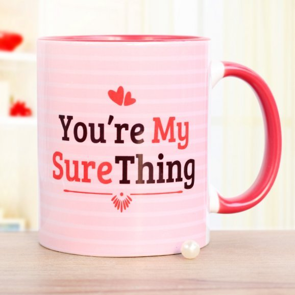 My Sure Thing Printed Mug with Front Sided View