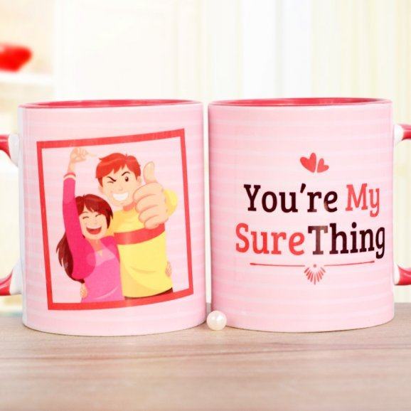 My Sure Thing Printed Mug with Both Sided View