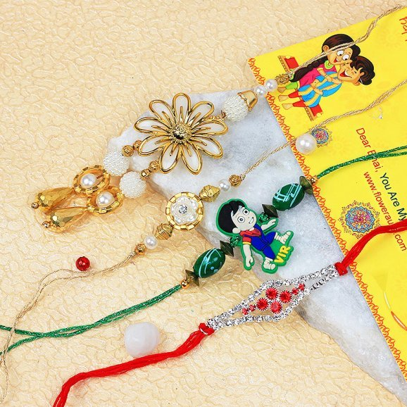 Elegant Set of 4 Rakhi