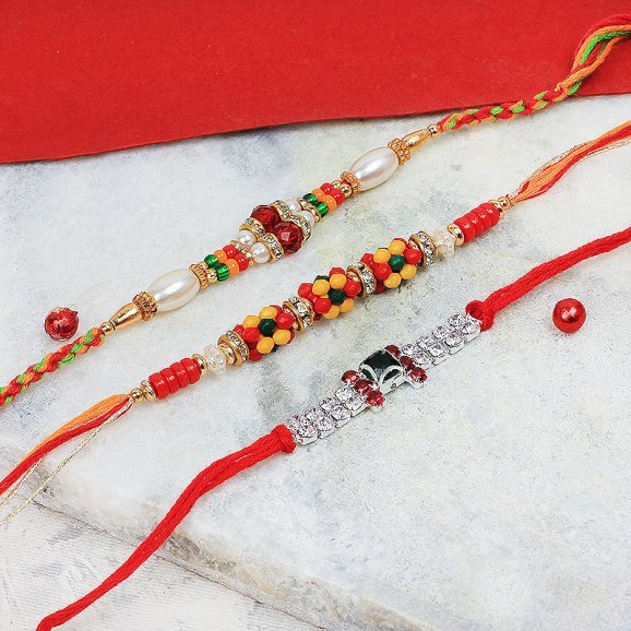 Splendid Set of 3 Rakhi