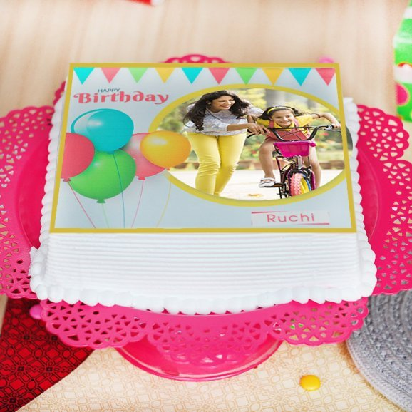 Photo Cake for birthday occasion - Zoom View