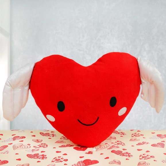 Heart shaped red cushion