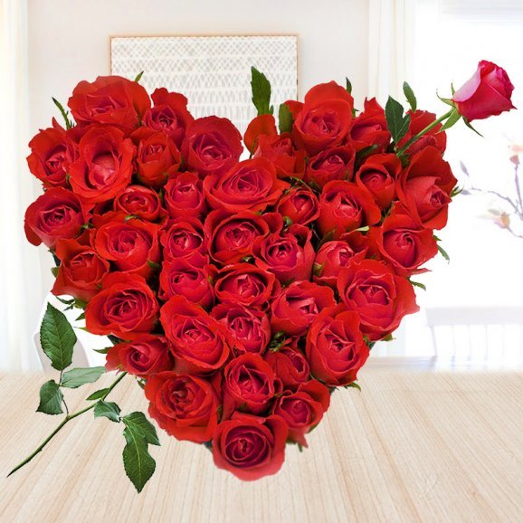 Bouque of 50 red roses - 1st gift of Statuesque Beauty