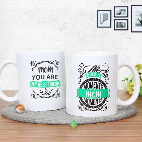 The Mom Moments Mug with Both Sided View