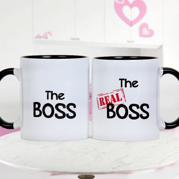The Boss and The Real Boss Paired Mugs