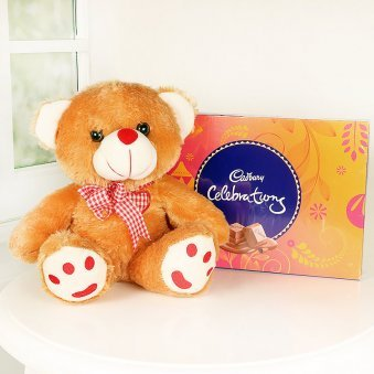Teddy With Cadbury Celebration