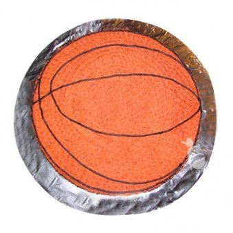 Basketball Shaped Vanilla Cake