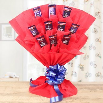 Chocolate Love - Bouquet of 10 Cadbury Dairy Milk