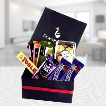 Chocolates packed in a signature box to gift