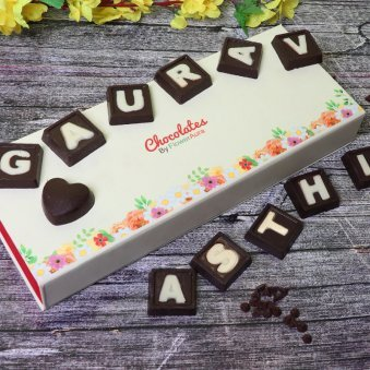Personalised Handmade Chocolates with Closer View
