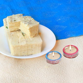 Diwali Special Sweets With Diyas