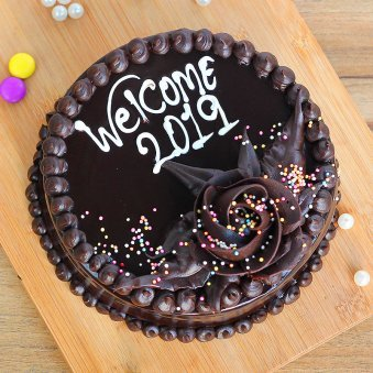 Dark Chocolate Cake for New Year