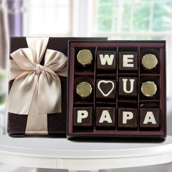 We love you papa handmade chocolate for fathers day