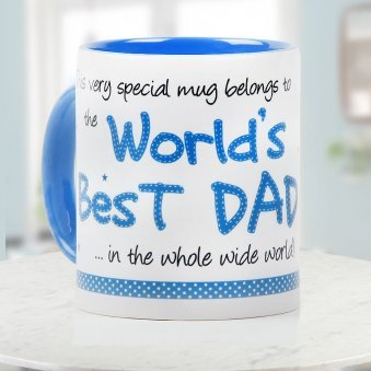 Worlds Best Dad Quoted Printed Duotone Mug
