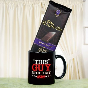The Guy Stole My Heart Mug and Bournville Combo