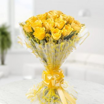 20 Yellow Roses Bunch