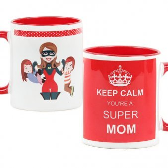 Super Mom Mug with Both Sided View