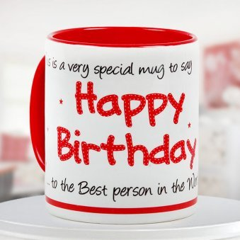 """""""Birthday special mug"""" - For your best buddy"""