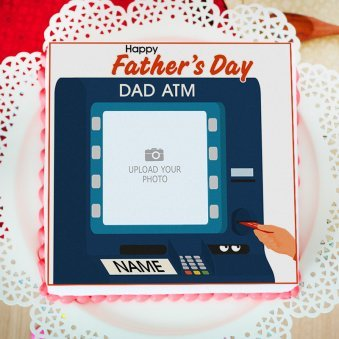 Fathers day photo cake - Top View
