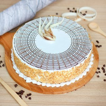 Savory Butterscotch Cake 1/2 Kg for anniversary