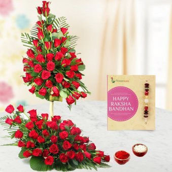 Send this Rakhi with Flower Combo