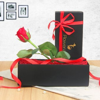 Red Rose in a Box Valentine Gift for Him